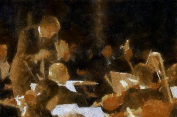 Salvatore Maresca Serra, Olio su tela cm 84x139